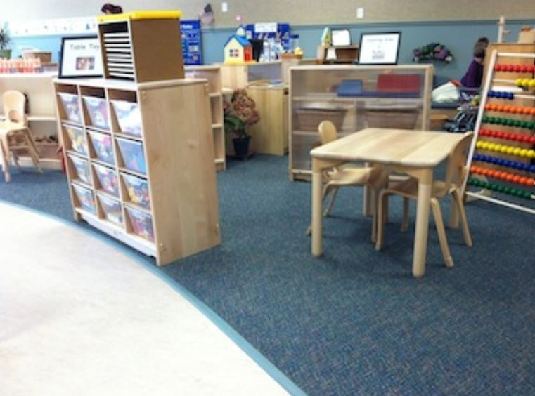 CDC play area with SafeLandings carpeting and taper edge.