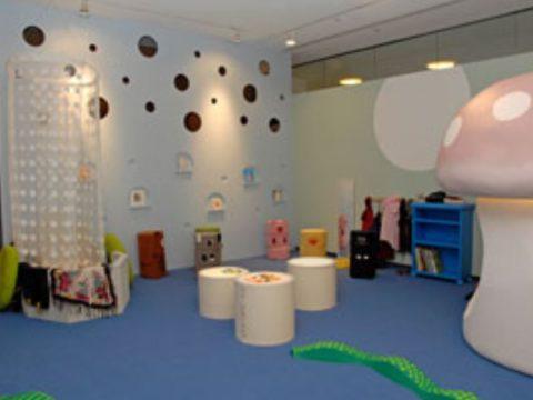 Children's Playroom with shock absorbing flooring.