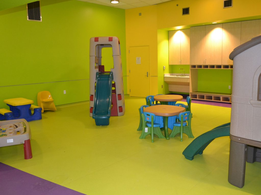 Fall rated flooring for community centers.