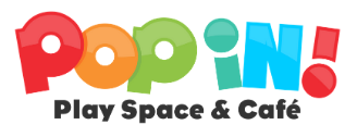 Pop In! Play Space & Cafe logo.